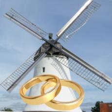 Hochzeitsfotos an der Mühle