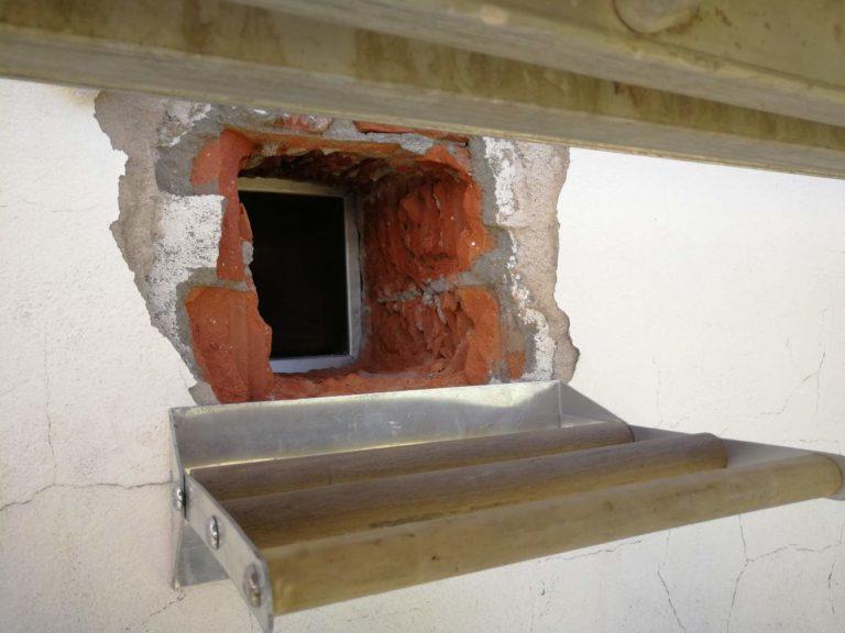 Der Zugang zum Turmfalkenkasten