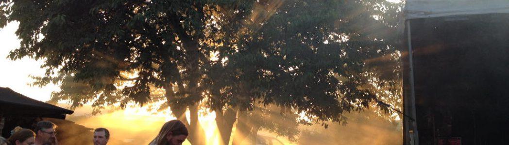 Sonne beim Konzert